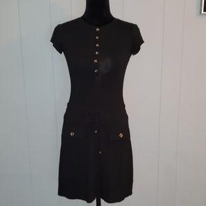 Cache Black Basic Rayon Mini Dress Mod Career XS